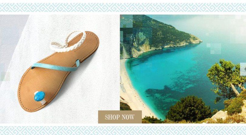 Μade In Greece η Χριστίνα Φραγκίστα με τα ωραιότερα σανδάλια του κόσμου – Ονόματα ελληνικών νησιών & πολύχρωμα πετράδια