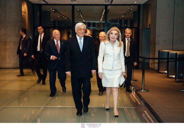 H Πρέσβυς Καλής Θελήσεως της UNESCO κυρία Μαριάννα Β. Βαρδινογιάννη και ο Πρόεδρος της Δημοκρατίας κύριος Προκόπιος Παυλόπουλος.