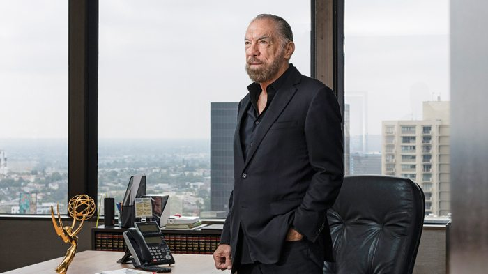LOS ANGELES, CALIFORNIA, UNITED STATES - July 25, 2017: John Paul DeJoria, Co-Founder Of The Paul Mitchell Line Of Hair Products And The Patrón Spirits Company, Poses For A Portrait At The John Paul Mitchell Systems Office. ( Photo By Philip Cheung )