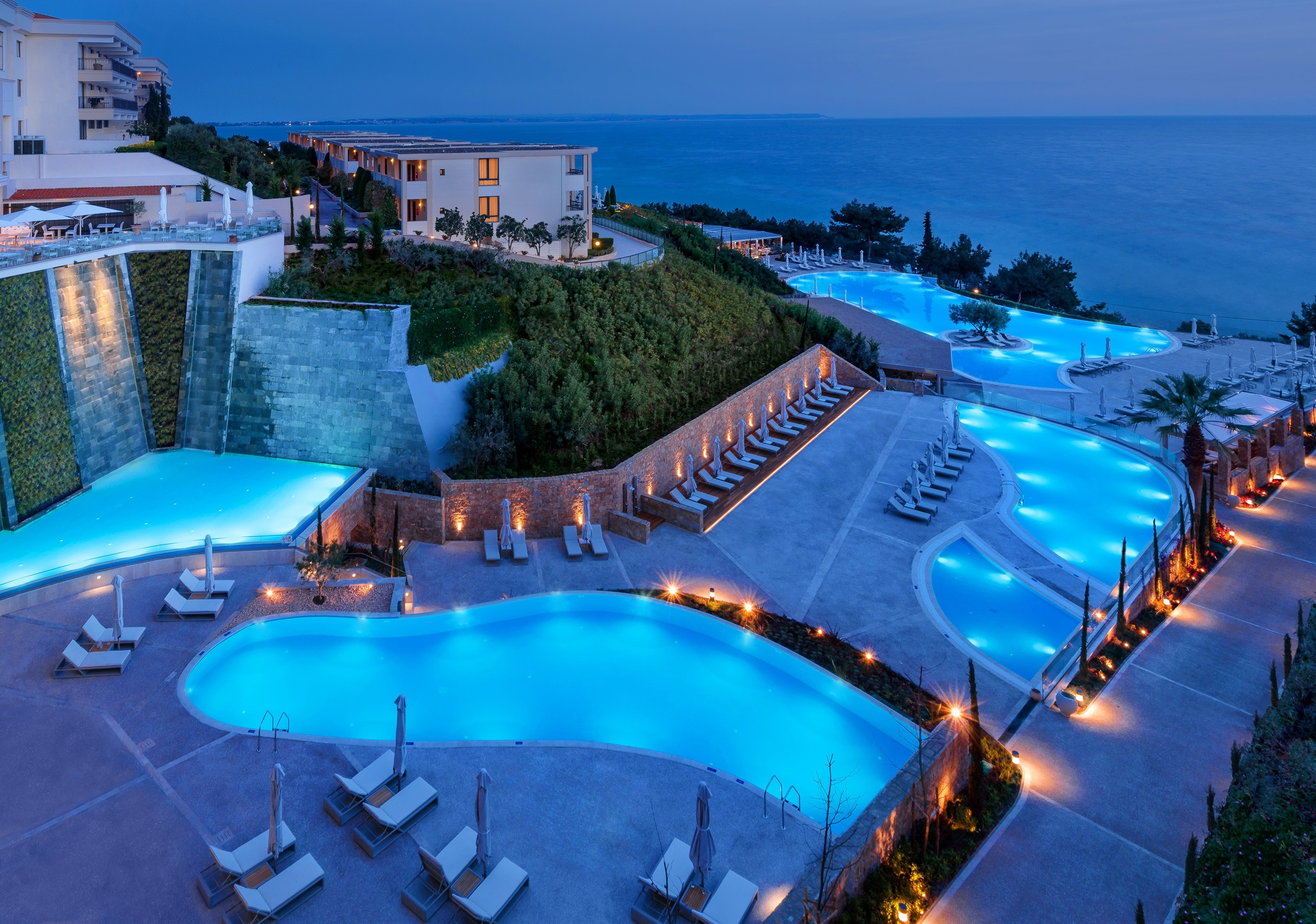 New Ikos Oceania Panoramic Night New Pools
