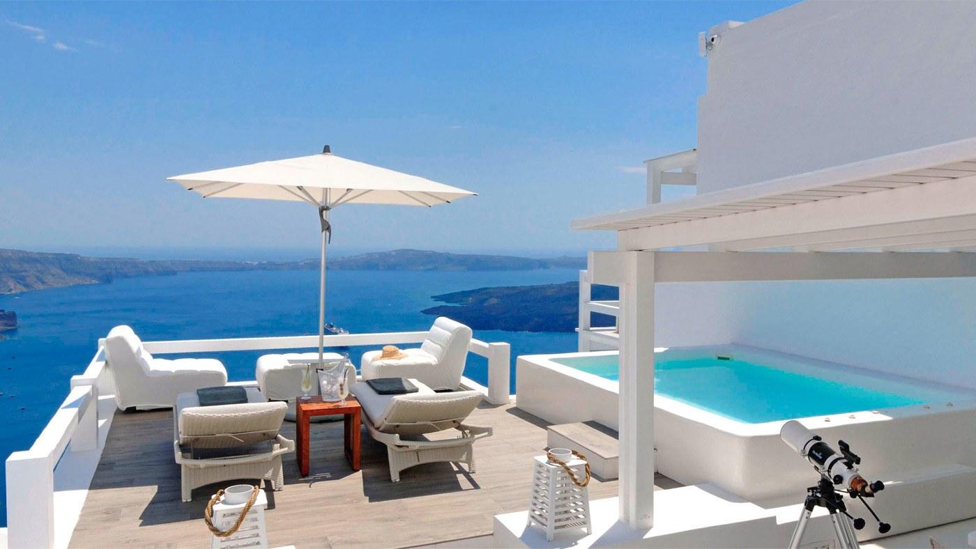 Griechenland Meerblick Balkon Pool τουι1
