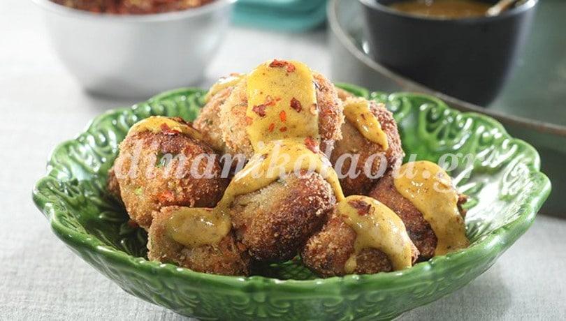 Τέλειο μεζεδάκι για ούζο και παρέα: Ψαροκεφτέδες με ούζο και μουστάρδα από την Ντίνα Νικολάου
