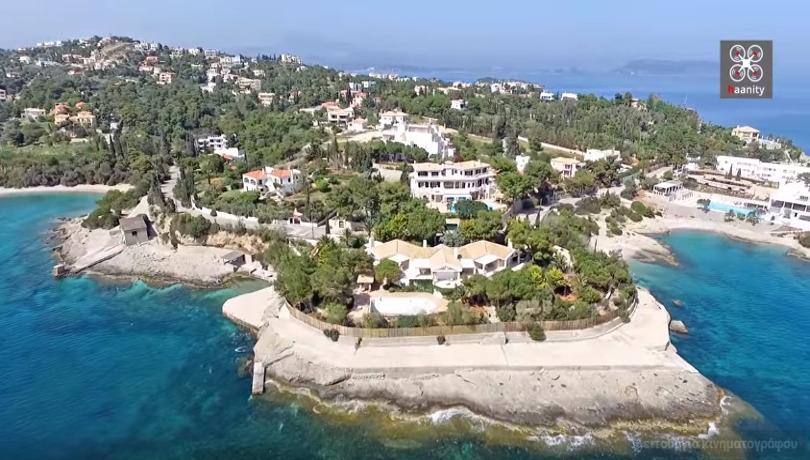 1 Άγ Αιμιλιανός Η χερσόνησος των επωνύμων με τις ακριβότερες βίλες στην Ελλάδα Greece Drone YouTube