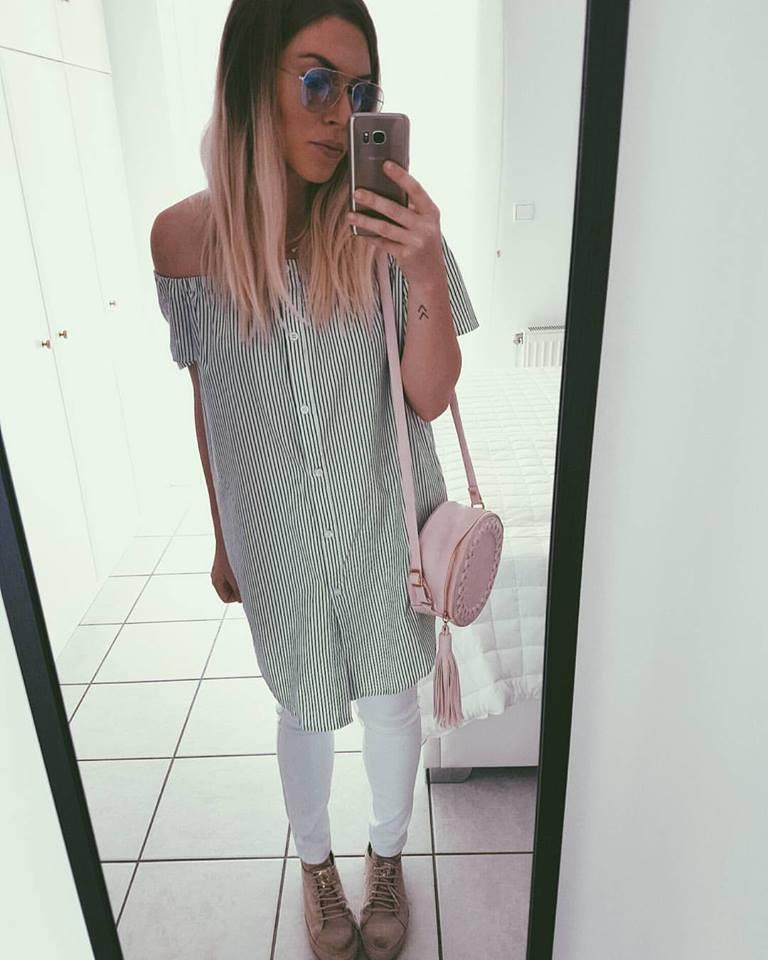ec60f9d736 Όσο για τα outfits που επιλέγει της αρέσει να παίζει με το άσπρο και το  μαύρο